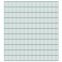 vidaXL Panneaux de clôture de jardin 2D 2,008x2,23 m 26 m total Vert