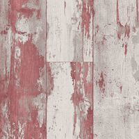 DUTCH WALLCOVERINGS Papier peint Bois Rouge et beige