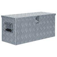 vidaXL Boîte en aluminium 80 x 30 x 35 cm Argenté
