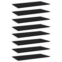 vidaXL Panneaux de bibliothèque 8 pcs Noir 80x30x1,5 cm Aggloméré