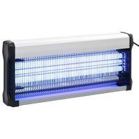vidaXL Lampe anti-insectes Noir Aluminium ABS 60 W
