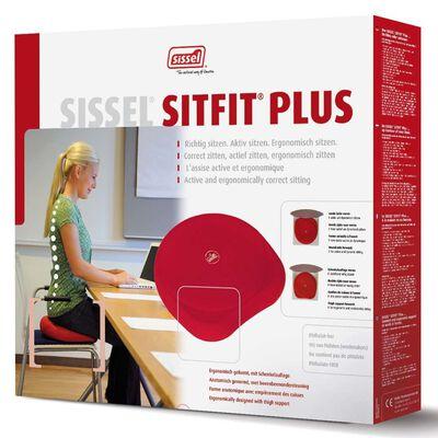 Sissel Coussin de siège 2-en-1 Sitfit Plus Rouge SIS-160.071