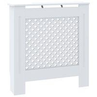 vidaXL Cache-radiateur MDF Blanc 78 cm
