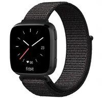Bracelet Fitbit Versa / Versa Lite nylon - noir