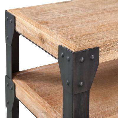 vidaXL Table console Bois d'acacia massif 120 x 40 x 85 cm