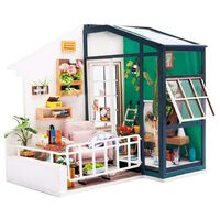 Robotime Kit miniature de bricolage Balcony Daydreaming avec LED