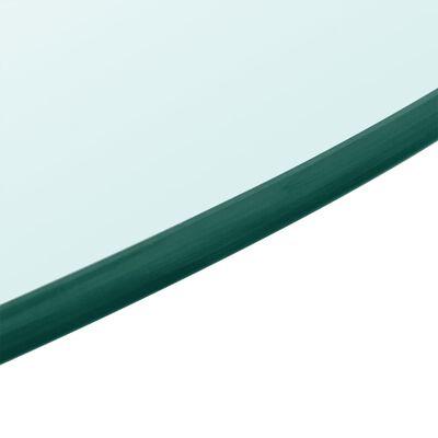 vidaXL Dessus de table ronde en verre trempé 800 mm