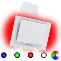 vidaXL Hotte avec LED RVB 60 cm Acier inoxydable et verre trempé