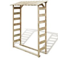 vidaXL Abri de stockage du bois de chauffage 150x44x176 cm Pin imprégné