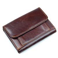 Portefeuille RFID en cuir véritable - Marron