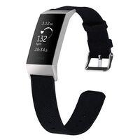 Fitbit Charge 3 Bracelet toile noir - S