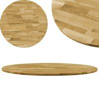 vidaXL Dessus de table Bois de chêne massif Rond 23 mm 800 mm