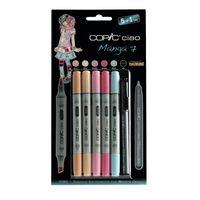 Set 5 marqueurs Copic Ciao Manga 7 + 1 Multiliner gratuit - Copic