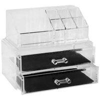 Compactor Coffret transparent pour maquillage et bijoux