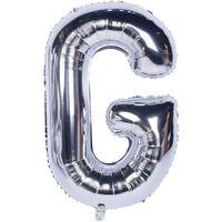 Ballon 53 cm, lettre G - argent