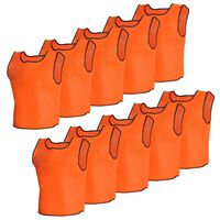 10 pcs Gilet de formation Junior Orange