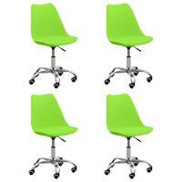 vidaXL Chaises de salle à manger 4 pcs Vert Similicuir
