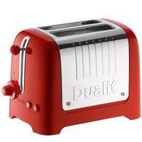 Grille pain DUALIT 2 Fentes - 1200W LITE Rouge 26221