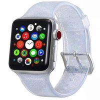 Bracelet Apple Watch 38 mm - argent pailleté