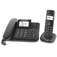 Téléphone Filaire Avec Répondeur + Sans Fil - Com-4005