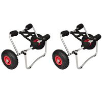 vidaXL Chariots pour kayak 2 pcs Aluminium