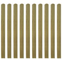 vidaXL Lattes imprégnées de clôture 20 pcs Bois 120 cm