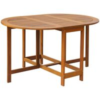 vidaXL Table de jardin 130x90x72 cm Bois d'acacia massif