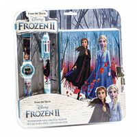 Frozen 2 / La Reine de Neige 2, Set de papeterie et montre numérique