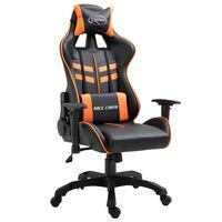 vidaXL Chaise de jeu Orange Similicuir