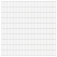 vidaXL Panneaux de clôture de jardin 2D 2,008x2,03m 14 m total Argenté