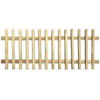 vidaXL Clôture à piquets Bois de pin imprégné 170 x 120 cm 5/7 cm