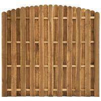 vidaXL Panneau de clôture Pinède 180x(155-170) cm