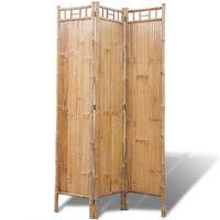Paravent à 3 panneaux en bambou