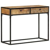 vidaXL Table console 100x35x75 cm Bois de manguier massif