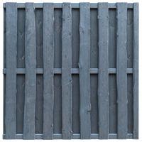 vidaXL Panneau de clôture Pinède 180x180 cm Gris