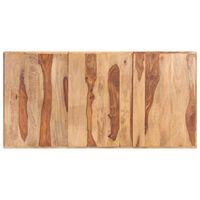 vidaXL Dessus de table Bois solide 16 mm 160x80 cm