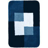 RIDDER Tapis de salle de bains Coins 60 x 90 cm Bleu 7103303