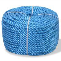 vidaXL Corde torsadée Polypropylène 12 mm 500 m Bleu
