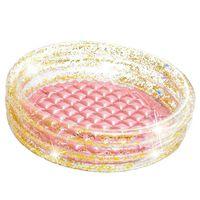 Piscinette pataugeoire gonflable Glitter - Diam. 86 x H. 25 cm - Trans