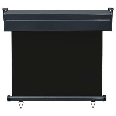 vidaXL Auvent latéral de balcon 80x250 cm Noir