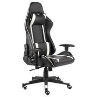 vidaXL Chaise de jeu pivotante Blanc PVC