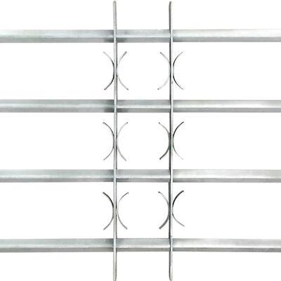 vidaXL Grille réglable de sécurité de fenêtres et 4 barres 700-1050 mm