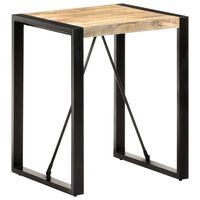 vidaXL Table de salle à manger 60x60x75cm Bois de manguier massif brut