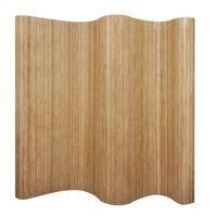 vidaXL Cloison de séparation Bambou naturel 250x165 cm