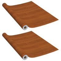 vidaXL Films autoadhésifs pour meubles 2 pcs Chêne clair 500x90 cm PVC