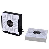 vidaXL Support de 14 cm carré avec 100 cibles papier