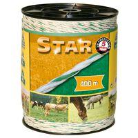 Kerbl Corde de clôture électrique Star 400 m Blanc et vert