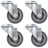 vidaXL 24 pcs Roulettes pivotantes à trou de boulon 50 mm