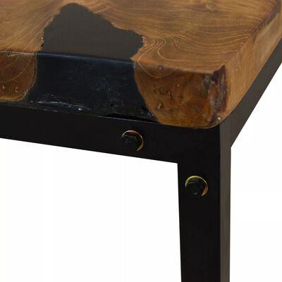 vidaXL Table basse Teck Résine 110 x 60 x 40 cm