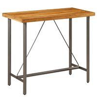 vidaXL Table de bar Teck recyclé massif 120 x 58 x 106 cm